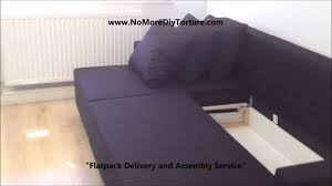 IKEA Lugnvik Corner Sofabed With Storage YouTube - Sofa bed assembly