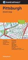 Pittsburgh Zip Code Map by Folded Map Pittsburgh Street Map Rand Mcnally Pittsburgh Street
