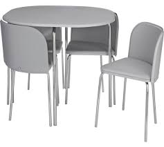 white space saver table buy hygena amparo space saving dining table 4 chairs grey