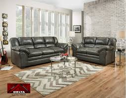 delta sofa and loveseat delta furniture 3500 stallion charcoal sofa and loveseat 3500stc02