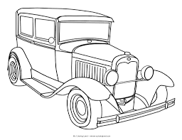 color sheets tp print at vintage car coloring pages omeletta me