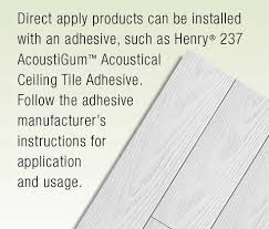 Ceiling Tile Adhesive by Shop Armstrong Ceilings Common 48 In X 6 In Actual 48 672 In X
