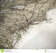 Map Of United States East Coast by A Map Of The East Coast Of America Push Pin In Ny Royalty Free