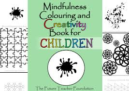 mindfulness colouring creativity book children wet play