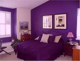 bedroom purple and gray wall paint color combination colors