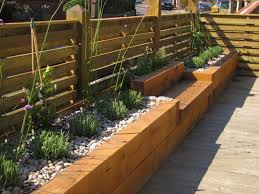 Raised Gardens Ideas Fall Raised Bed Gardens Plans Intermittent Benches Along The