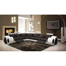 canapé design noir et blanc canapé d angle relax cuir noir et blanc design achat vente