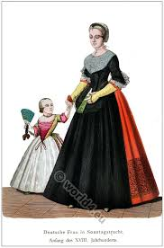 german citizen with child in 1710 costume history