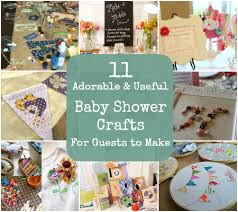 baby shower activity ideas 11 adorable and useful baby shower crafts for guests to make