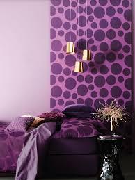 Purple Interior Design by Bedroom Purple Bedroom Ideas Vitt Sidobord Wall Art White Bed