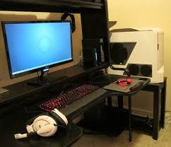 Proper Computer Desk Setup Finally Got A Proper Desk And Case Stand For This Simple Setup