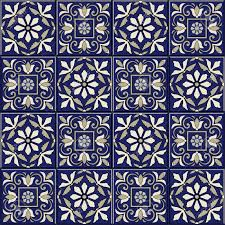 gorgeous seamless pattern from blue and white moroccan
