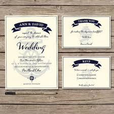 nautical wedding invitations nautical wedding invitation set printable from tranquillina on