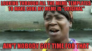 Build A Meme - looking through all the meme templates to make sure my meme is