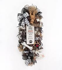 best 25 dog wreath ideas on pinterest wreaths deco mesh