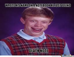 Make Bad Luck Brian Meme - bad luck brian by heartbreaker meme center