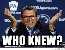 Sandusky Meme - penn state fans prove they are still moronic savages for joe