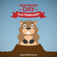groundhog background vector free download