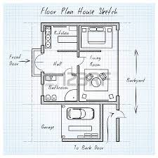 floor plan house sketch royalty free cliparts vectors and stock