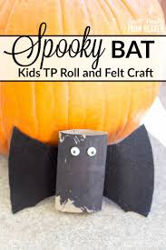 spooky bat toilet paper roll craft easy halloween kids craft
