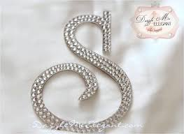 rhinestone number cake toppers monogram cake topper wedding cake topper