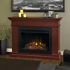 cherry wood electric fireplace tv stand corner fireplaces style