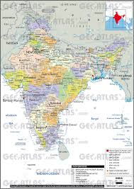 India Map World by Geoatlas Countries India Map City Illustrator Fully