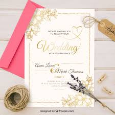 vintage style wedding invitations golden wedding invitation in vintage style vector free