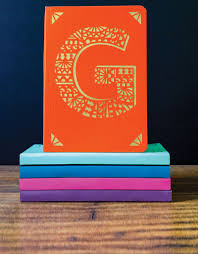 portico design m monogram purple a6 notebook notebooks