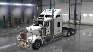 kenworth service uncle d logistics sysco food service kenworth w900 skin mod