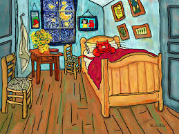 van gogh bedroom painting two point perspective definition van goghs bedroom in arles