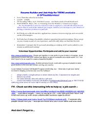 resume word doc formats of poems teen resume builder yralaska com