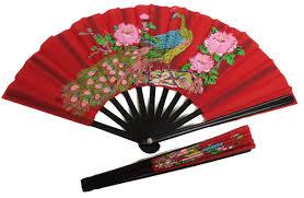 folding fan fan peacock design