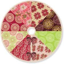 color wheel patchwork tree skirt sew4home