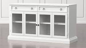 console cabinet with doors cameo 62 white modular media console with glass doors crate and