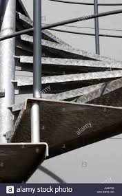 Galvanised Handrail Galvanised Steel Metal Fire Escape Spiral Staircase Outside Office