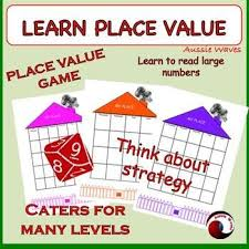 printable math games on place value teach place value game for math centers or whole class maths