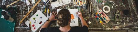 Student At Desk by Art Westminster College Salt Lake City Utah
