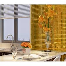 Wall Tiles Kitchen Backsplash Gold 5 Side Glass Mirror Tile Glass Mosaic Wall Tile