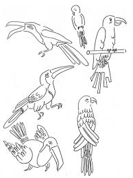 elements of a parrot art elements for kids