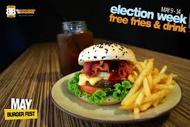 d i g g davao backyard burgers free fries u0026 drink till may 14