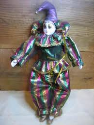 mardi gras doll two harlequin porcelain jester dolls mardi gras clown 25 95