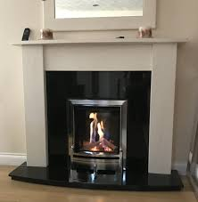 lovely new log effect inset gas fire with the convenience of