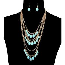 turquoise gold chain necklace images Music festival jewelry jaebee jewelry necklaces rings bracelets jpg