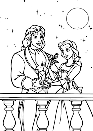 prince u0026 princess belle colouring prince u0026 princess