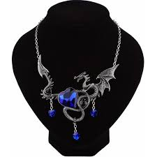 necklace dragon images Sapphire dragon necklace treasure fan jpg