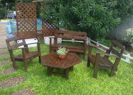 Diy Wood Pallet Outdoor Furniture by Recycled Pallet Garden Furniture Ideas Recycled Things