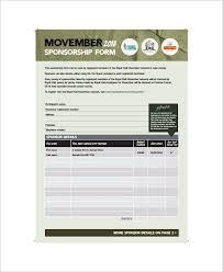 sponsor forms template sponsorship form template free printable