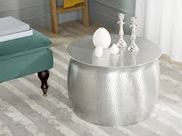 coffee table stunning butcher block coffee table design ideas marvelous silver round industrial metal coffee tables for small spaces designs for living room arrangement ideas