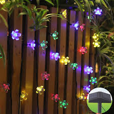 60 led solar powered security flood lights outdoor garden path